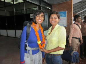 A welcome greeting in Kathmandu is the first introduction to Nepal for all volunteers