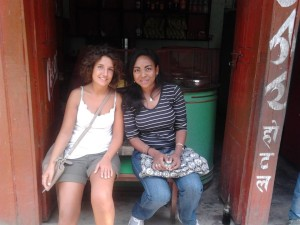 Martina and Domina sharing a nice rest in the village.