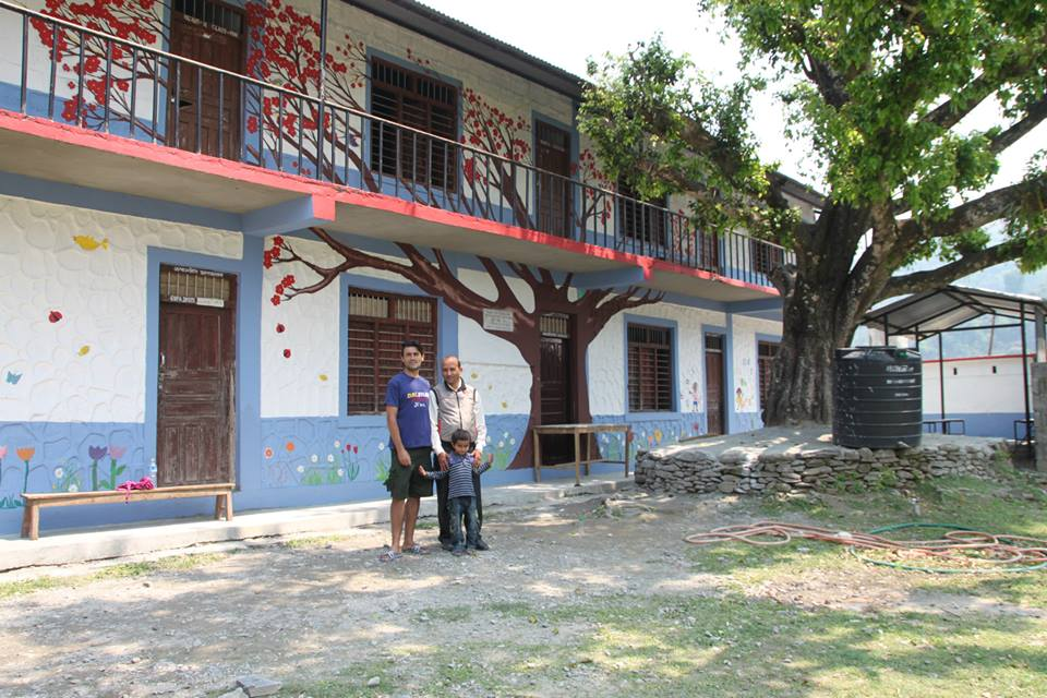 School painting project in Nepal